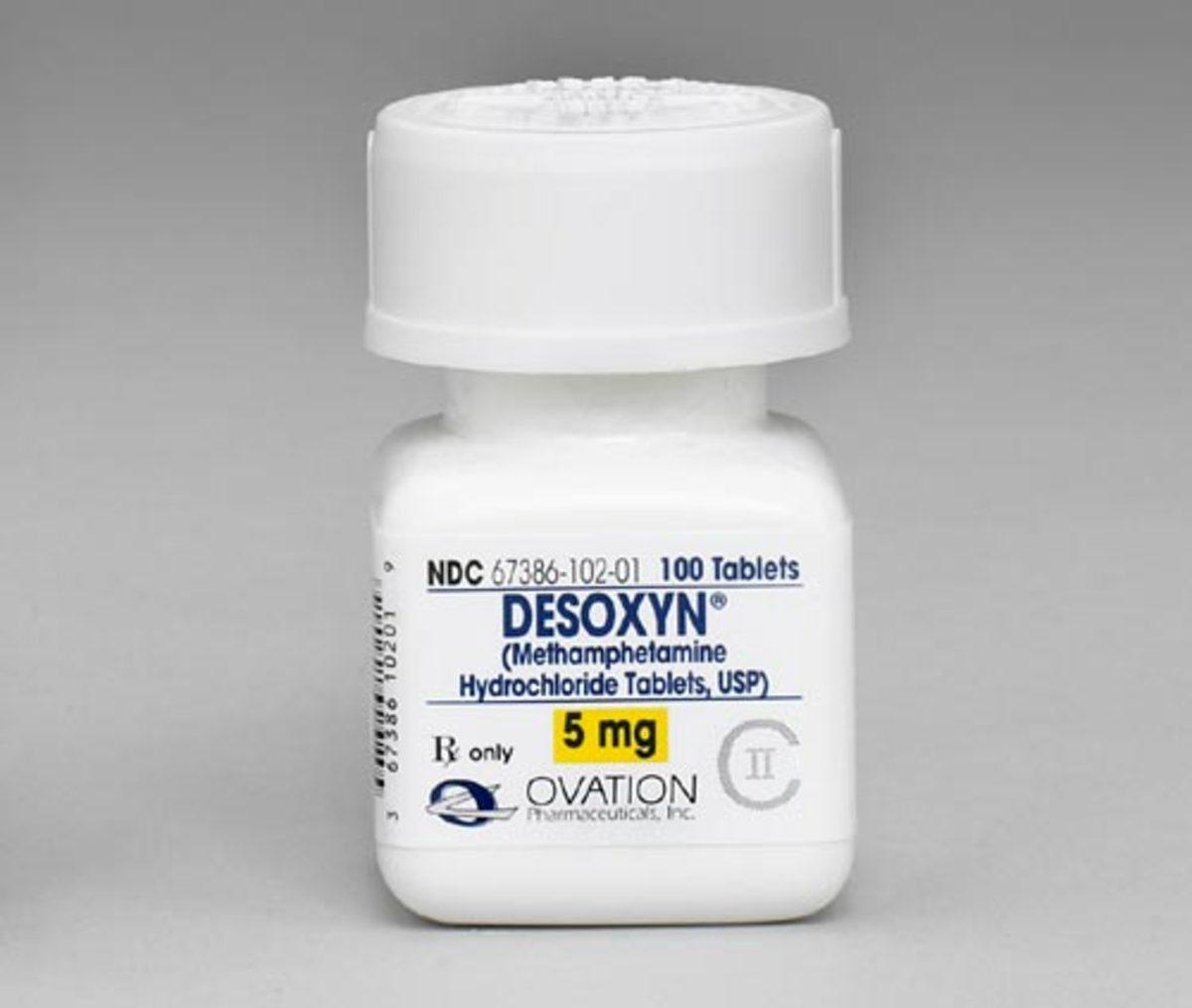 Bottle of Desoxyn