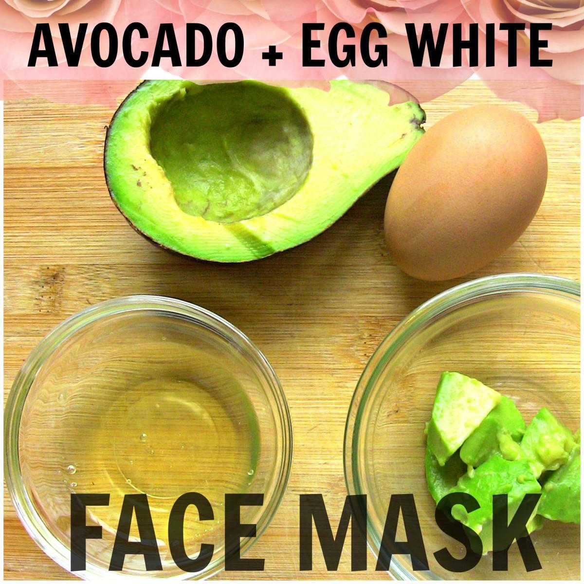 DIY Avocado Egg White Face Mask
