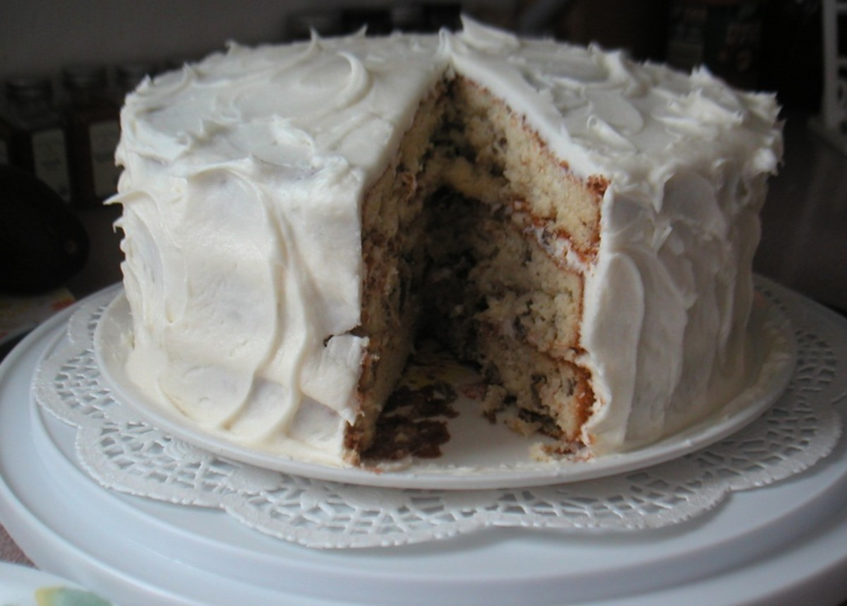 Italian Cream Cake With Cream Cheese Frosting