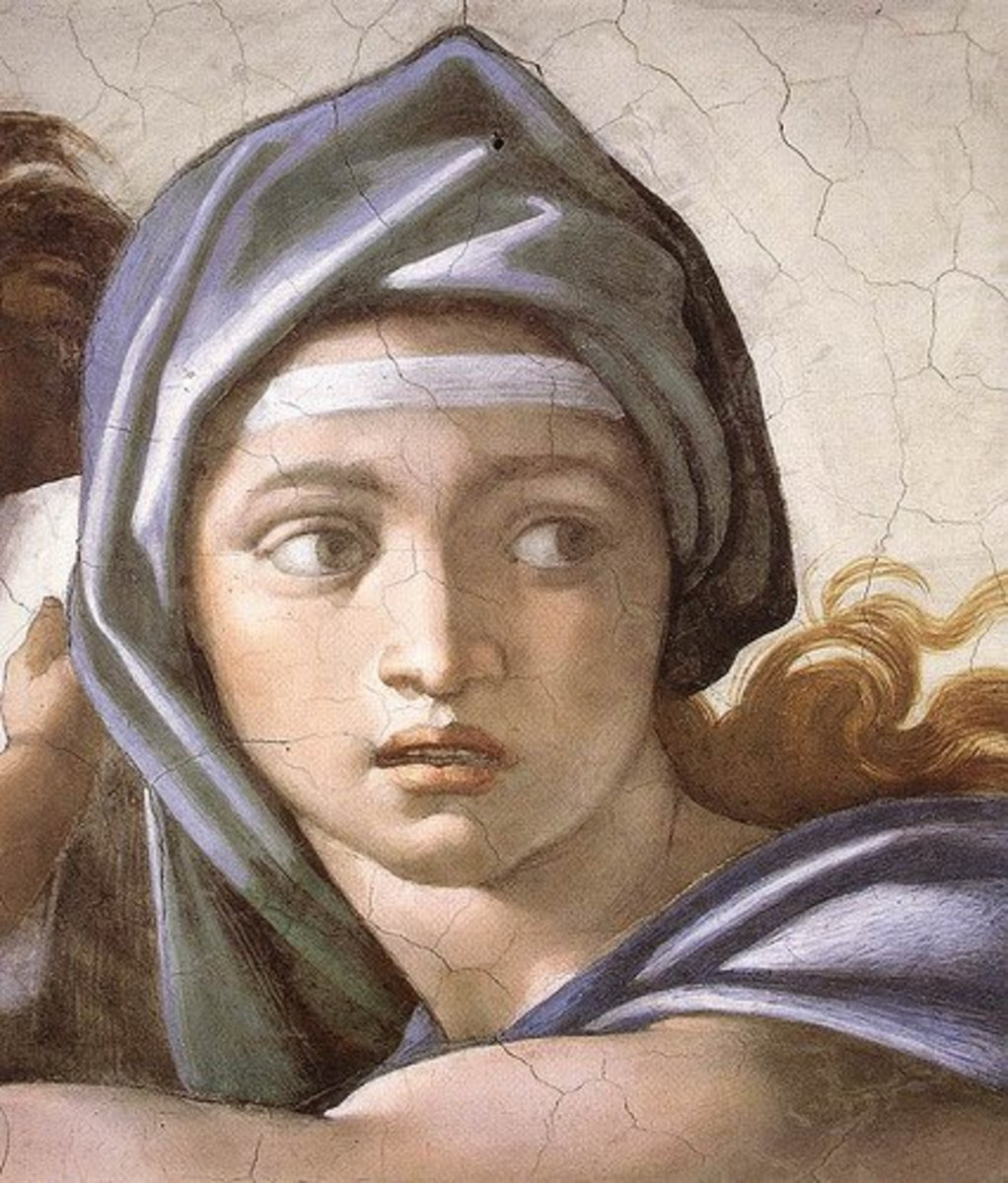 Michelangelo, the Delphic Sibyl (detail), Ceiling of the Sistine Chapel.