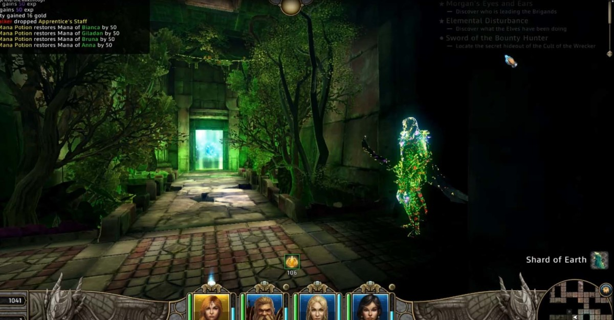 Might and Magic X Legacy Elemental Forge Quest - reach the hidden enemy and the quest is almost completed.