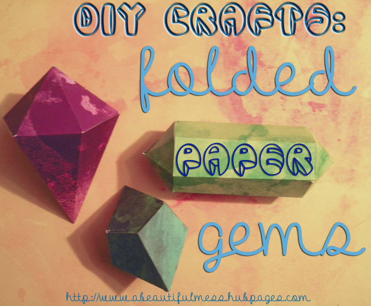 DIY Crafts: Folded Paper Gem Decor