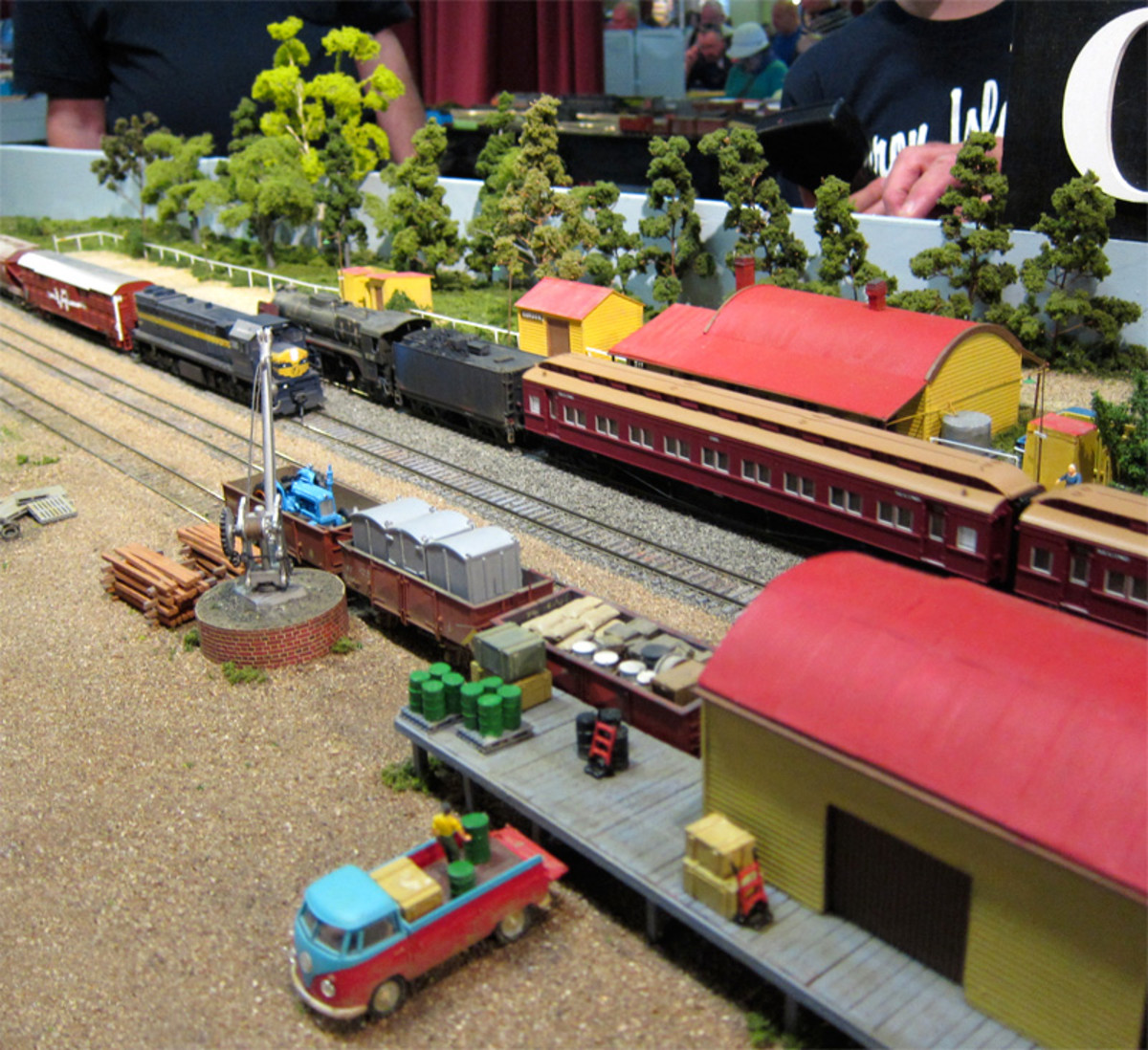 The display of Gordon station harks back to the days of Victorian Railway and VLine trains.