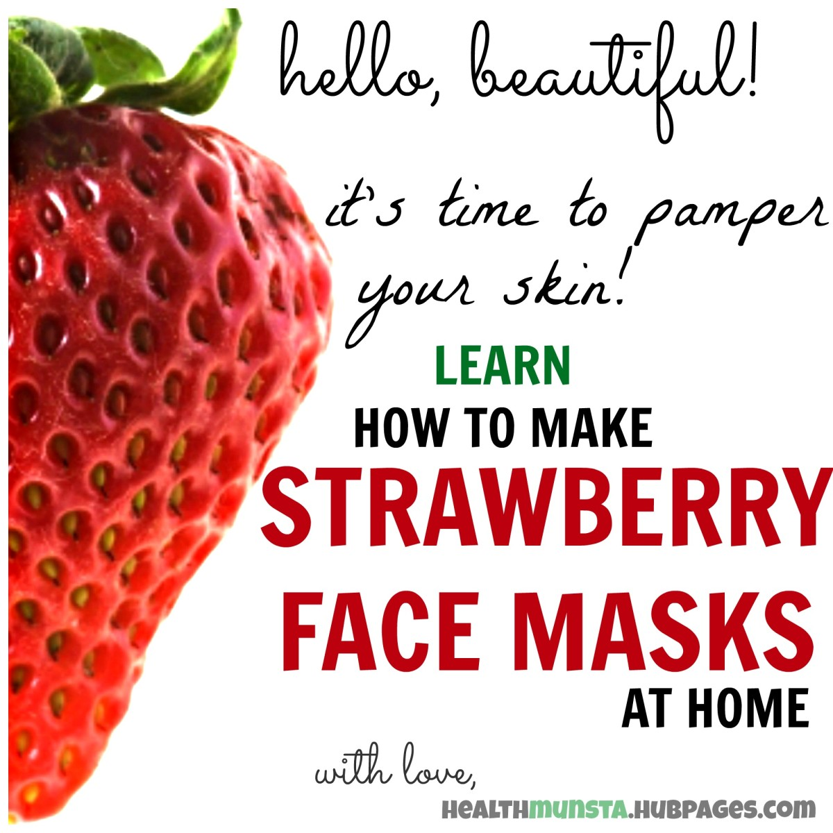 Learn how to make strawberry face masks at home, including a step-by-step guide by yours truly!