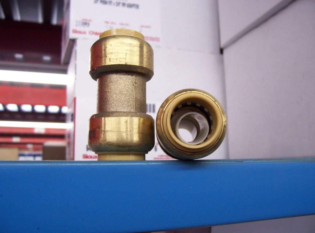 Push fittings make plumbing repairs and improvements a cinch.