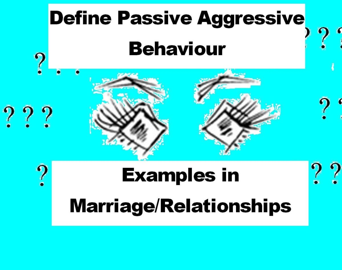 define passive aggressive behavior - examples in marriage and