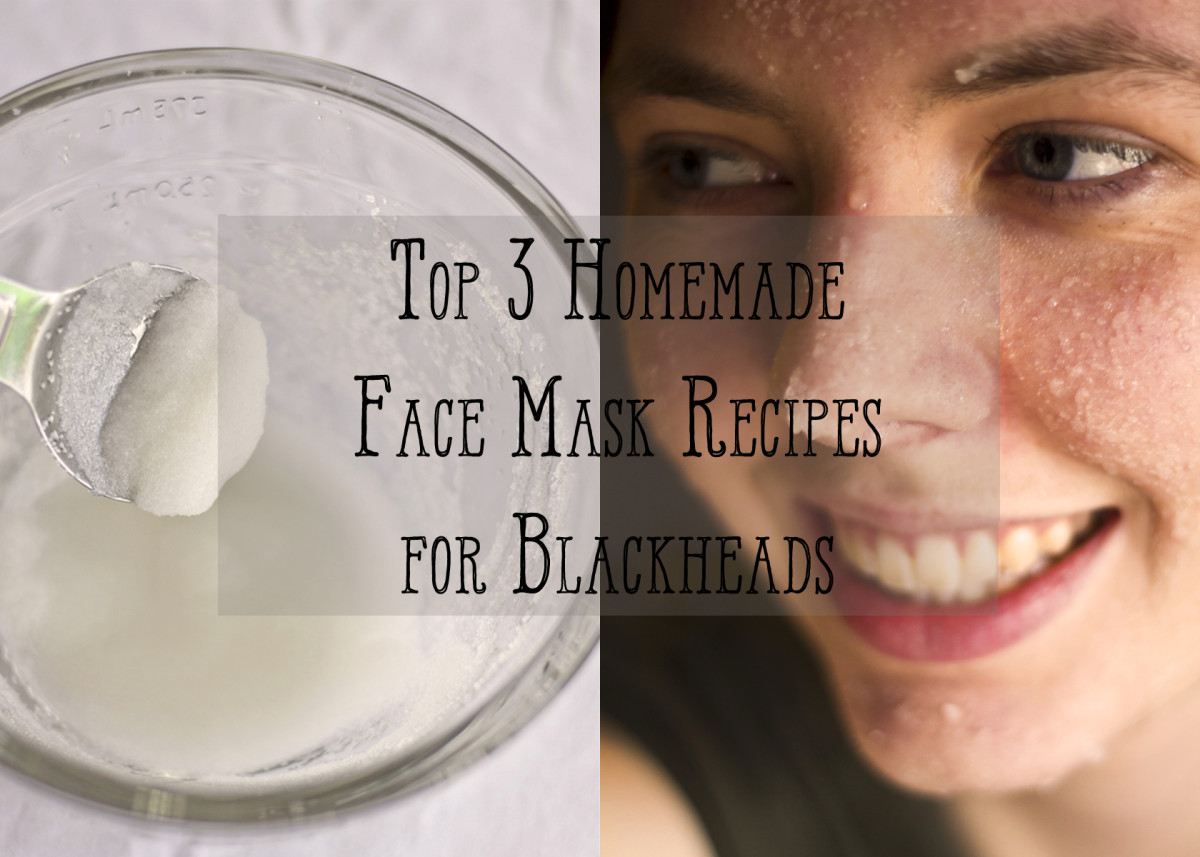 The top three homemade face mask recipes for fighting blackheads.