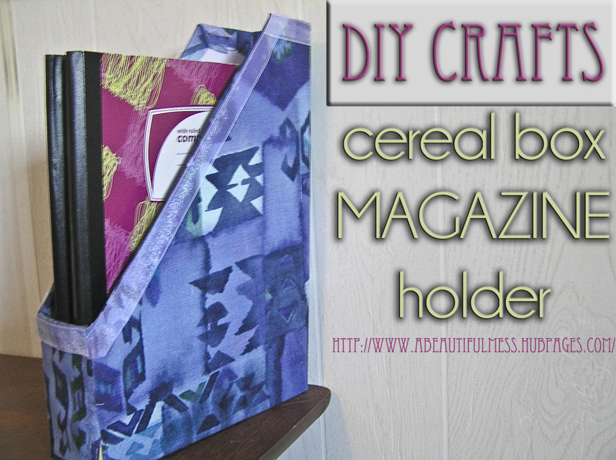 DIY Crafts: Cereal Box Magazine Holder