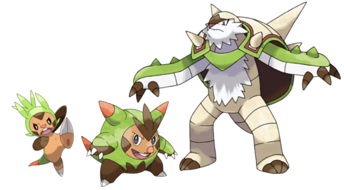 The Grass Starter Evolutionary Line