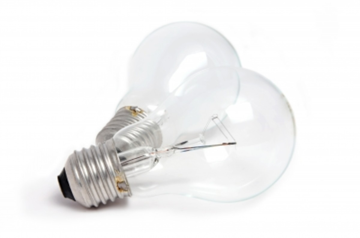 Old fashioned incandescent lights are often preferred to florescent bulbs.