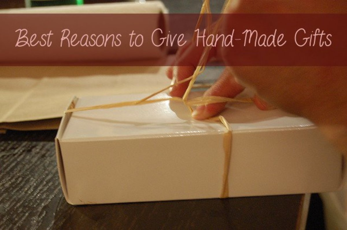 There are so many reasons to give a handmade gift!