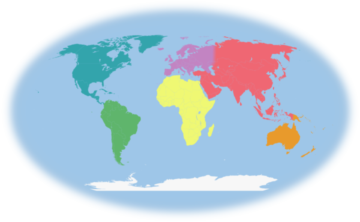 Introduction To Continents And Countries For Preschool And - List of 7 continents of the world