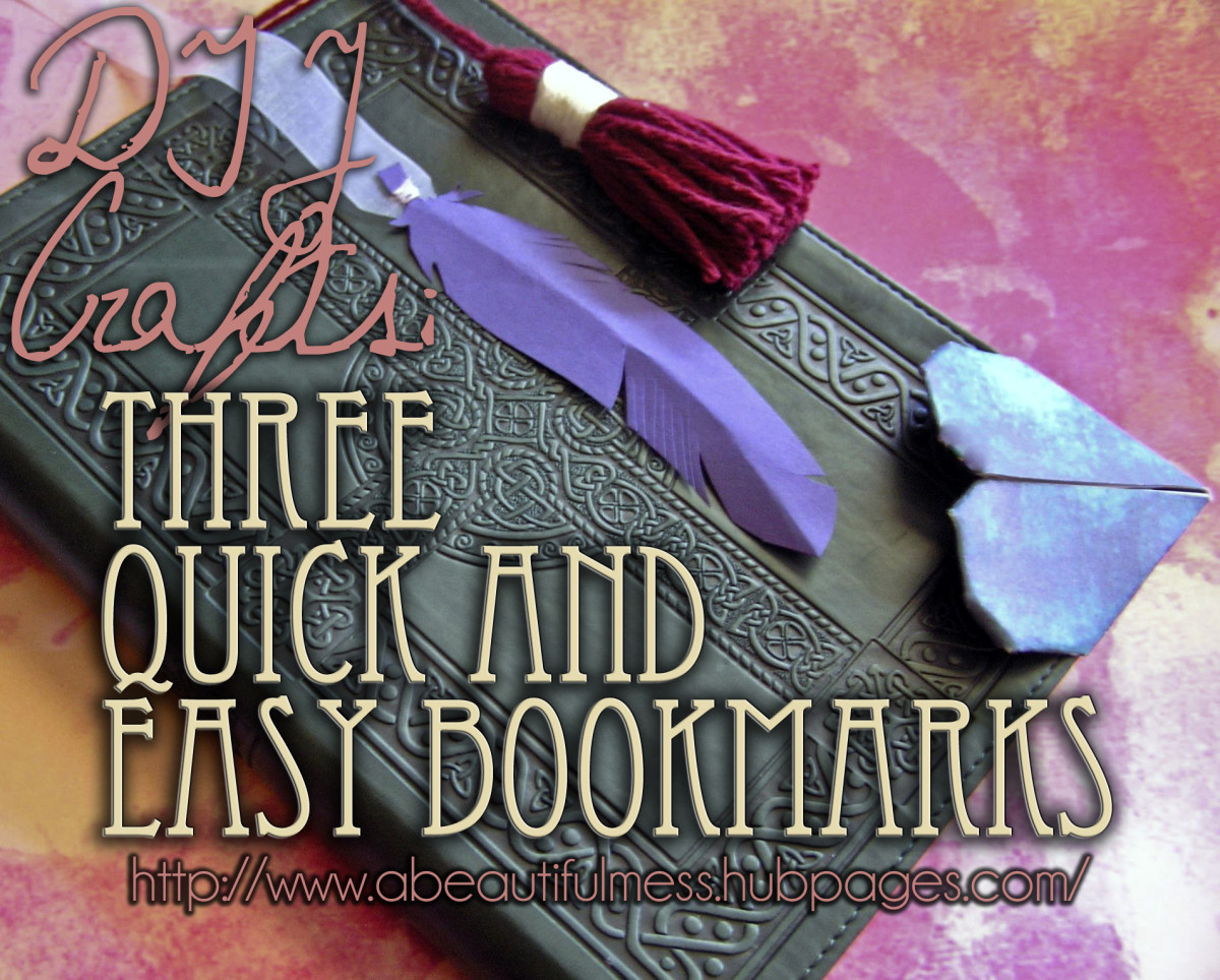 DIY Crafts: Three Quick and Easy Bookmarks
