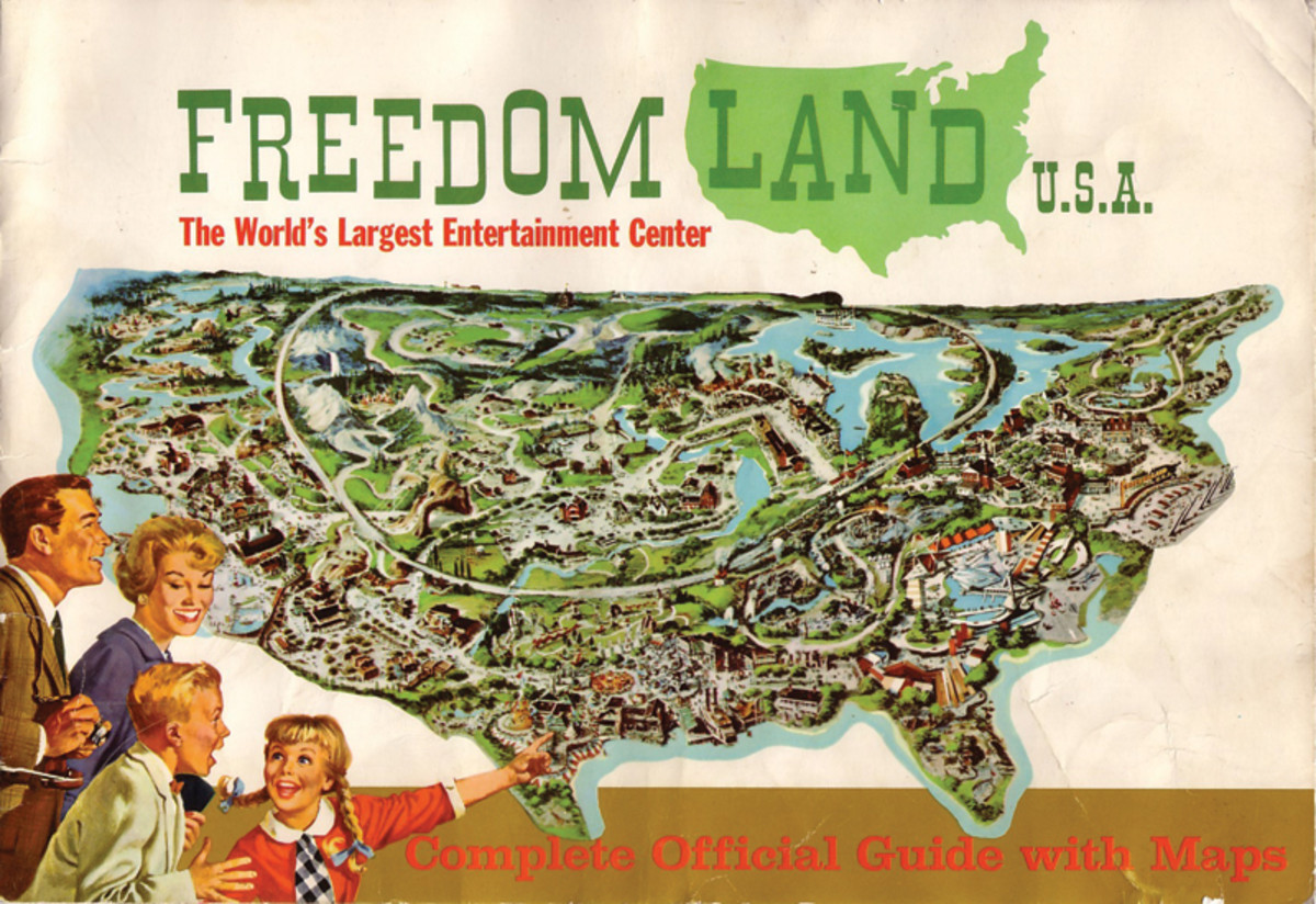 Freedomland U.S.A. was so large that visitors needed a guide book to keep from getting lost