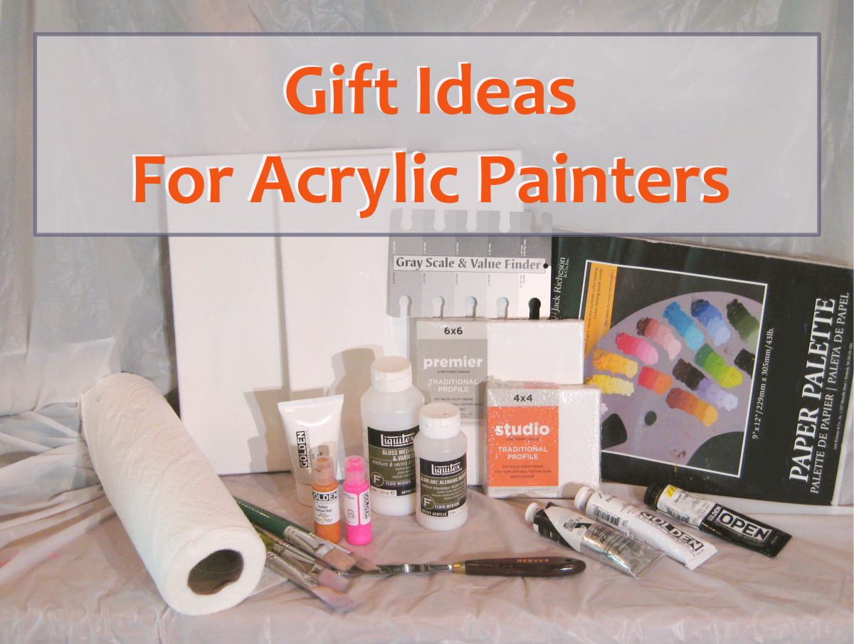 What kind of presents can you give to an artist that loves painting with acrylics?