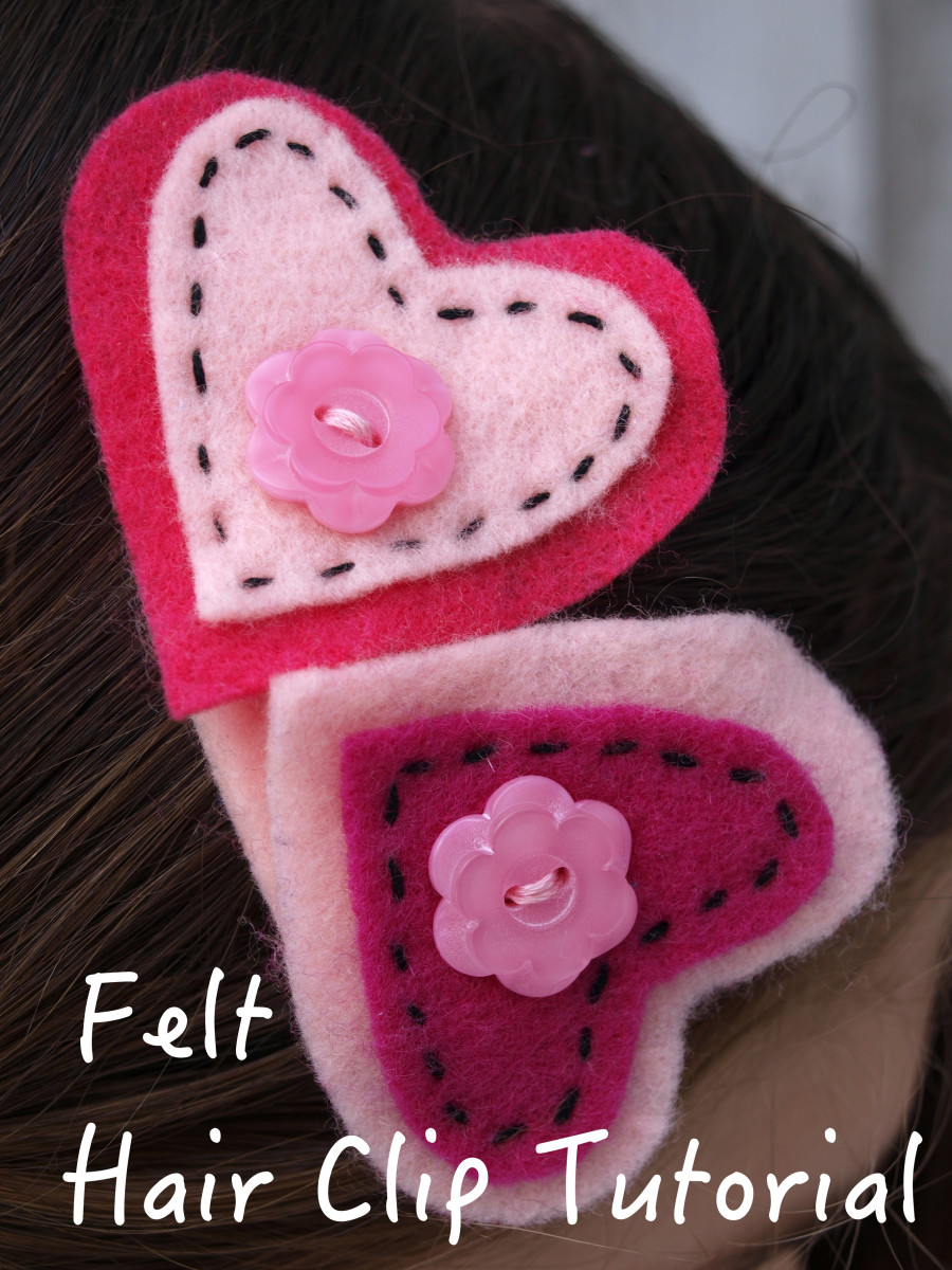 Easy Felt Hair Clip Tutorial