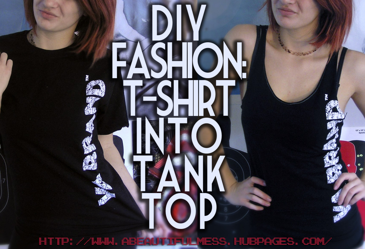 DIY Fashion: Make a T-Shirt Into a Tank Top