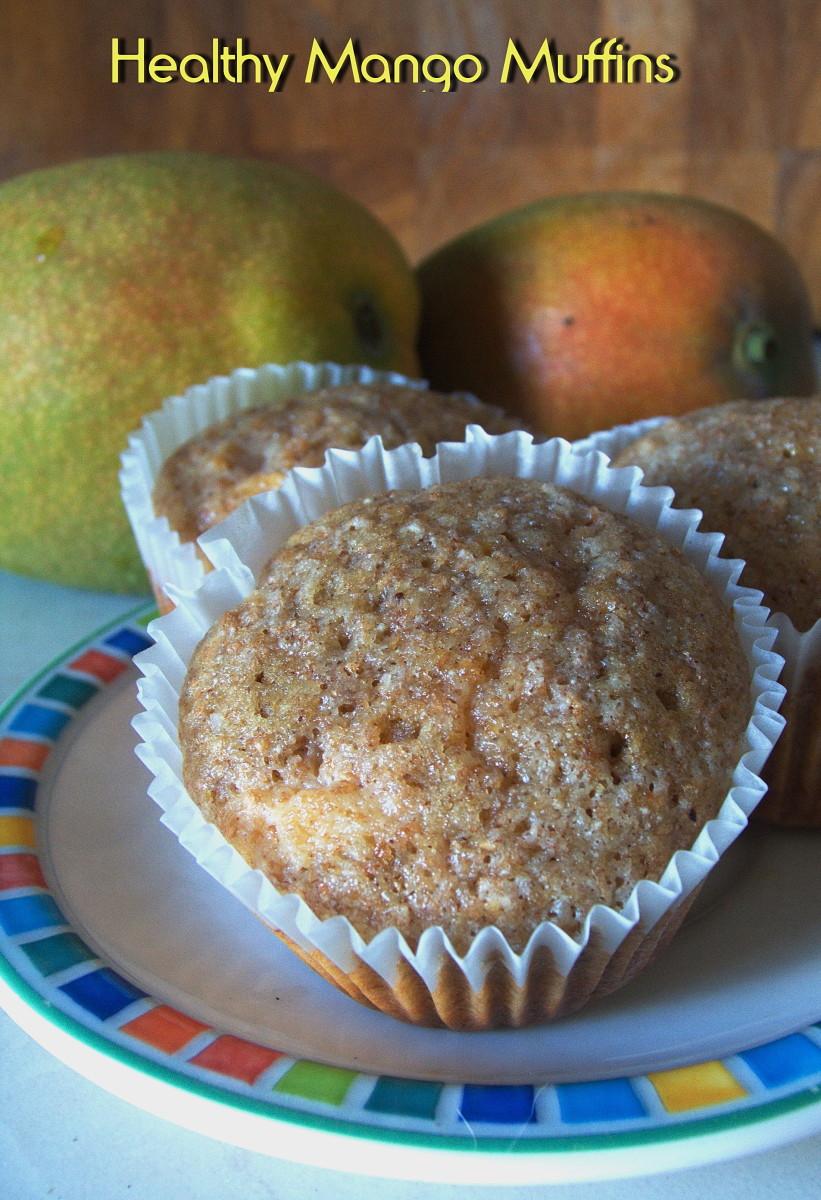 Beautiful and tasty mango muffins.