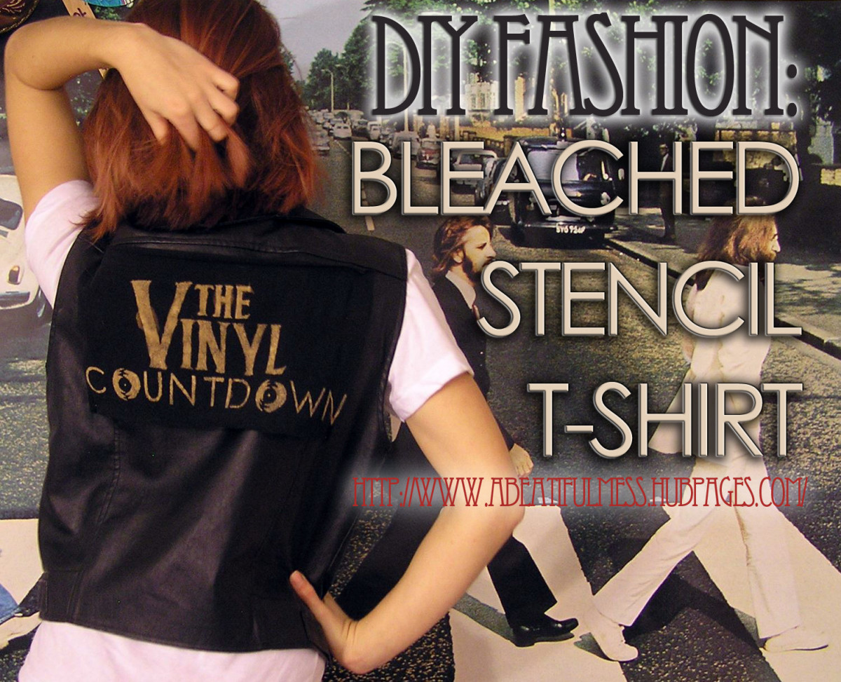 DIY Fashion: Bleached Stencil T-Shirt