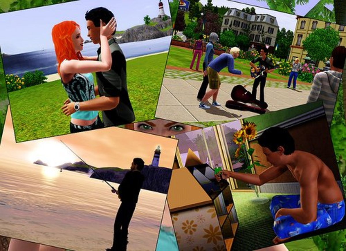 "Shots of ""The Sims 3."""