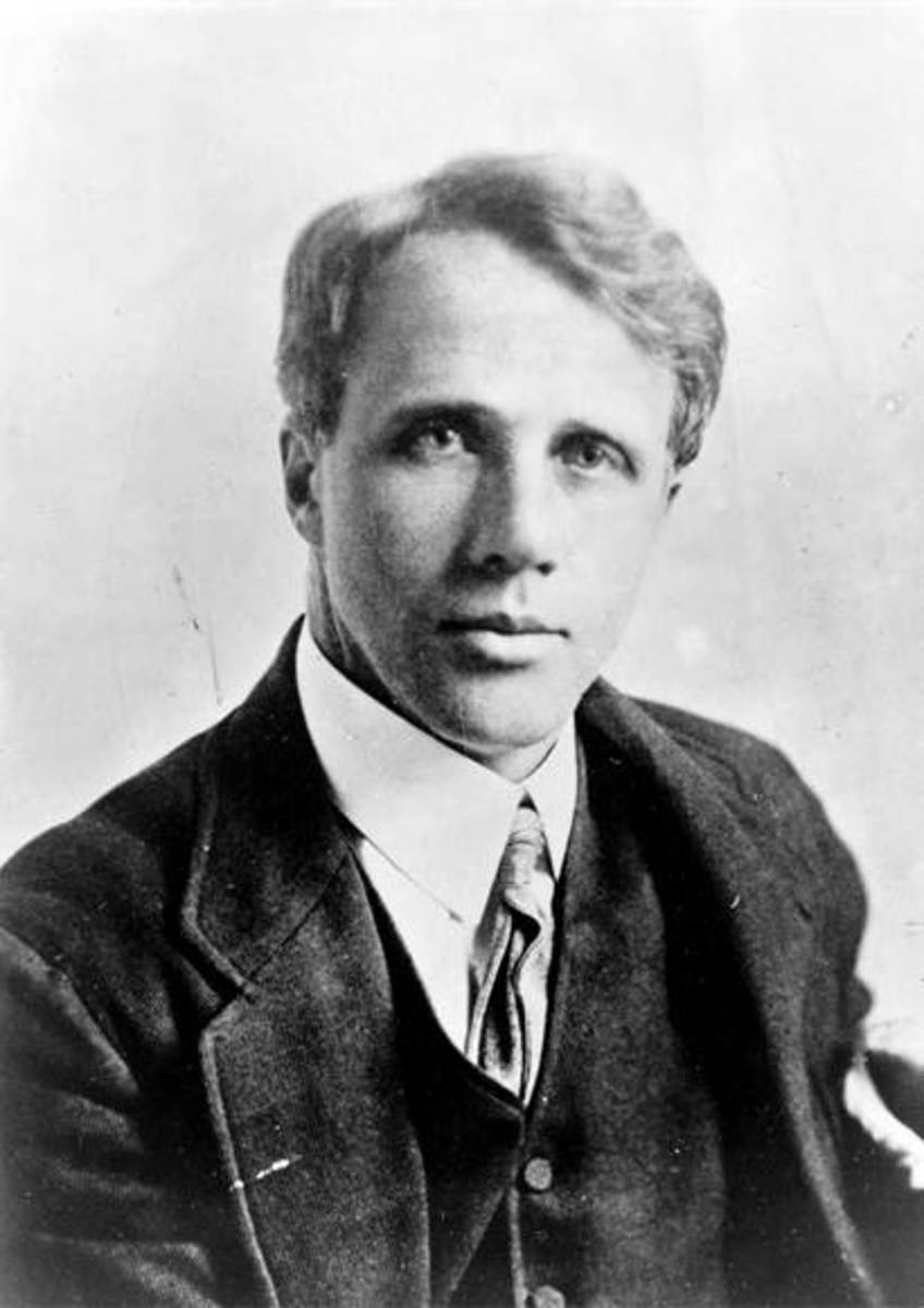 A young Robert Frost in thoughtful mood.