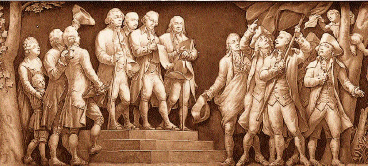Some of the most famous authors of the Declaration Of Independence, John Adams, Thomas Jefferson and Benjamin Franklin