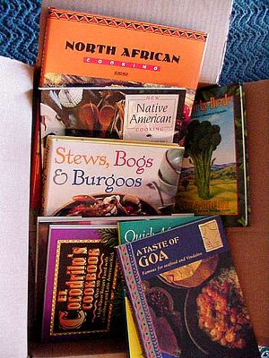 This collection of cookbooks is sure to attract some hungry readers.