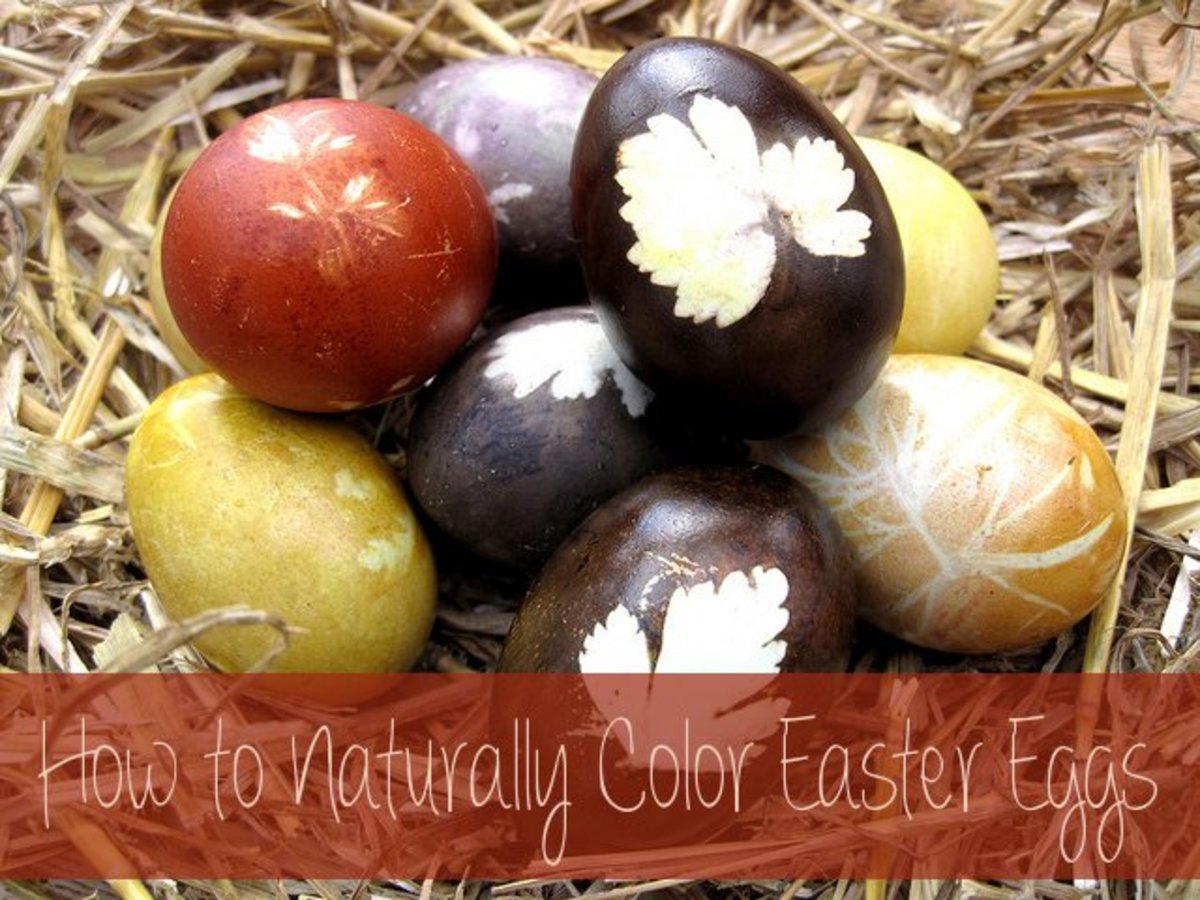 How to naturally dye Easter Eggs instead of using commercial dyes.