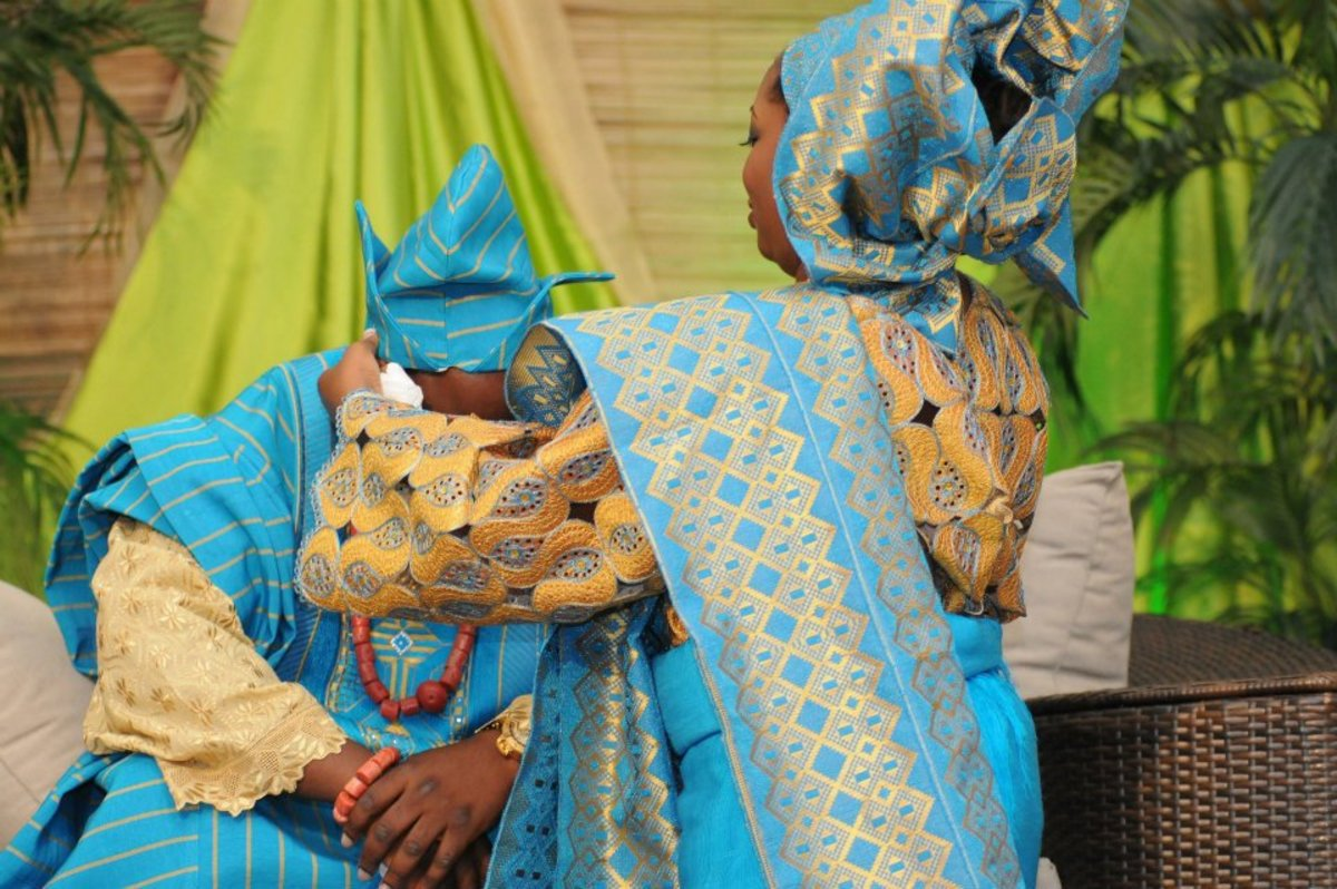 A  Yoruba bride and groom