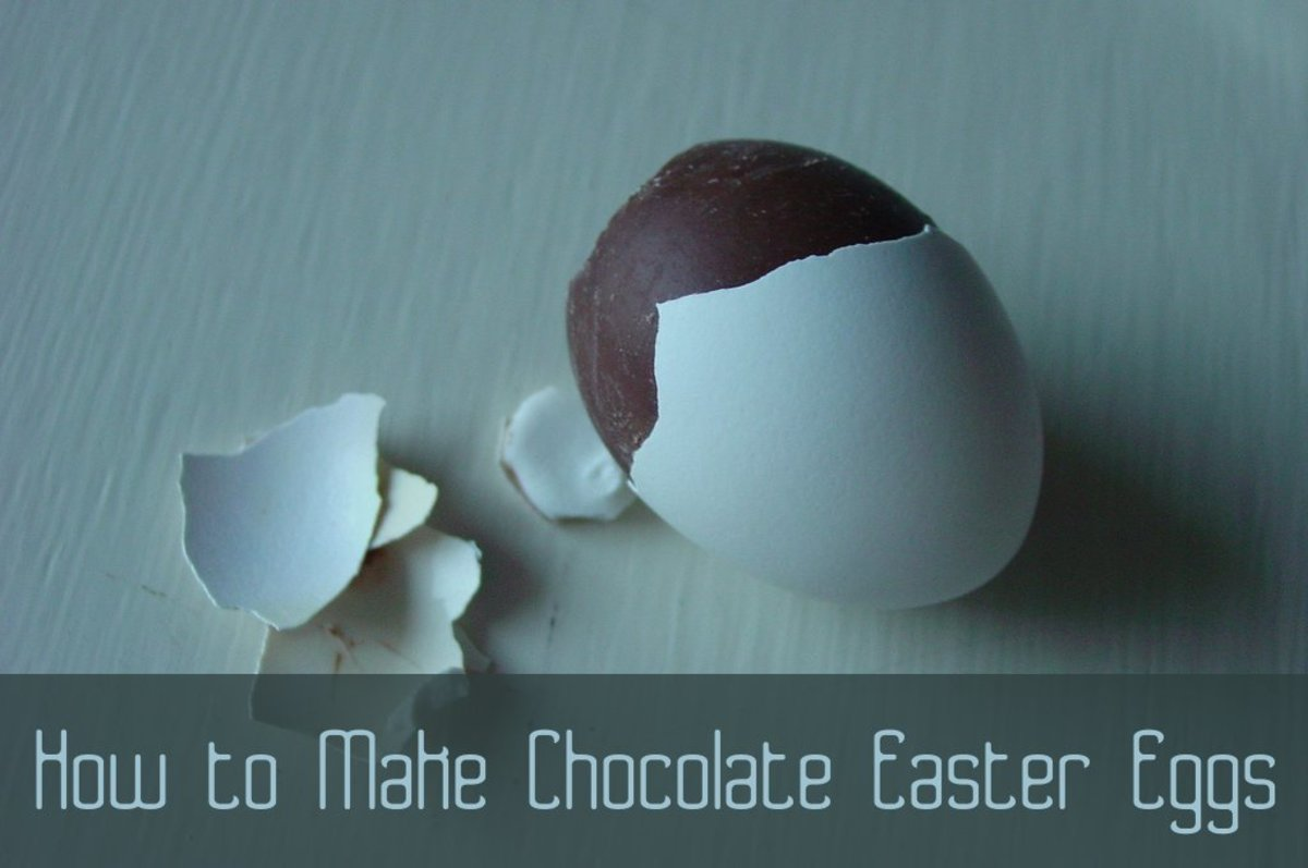 How to Make Chocolate Easter Eggs From Blown out Eggs