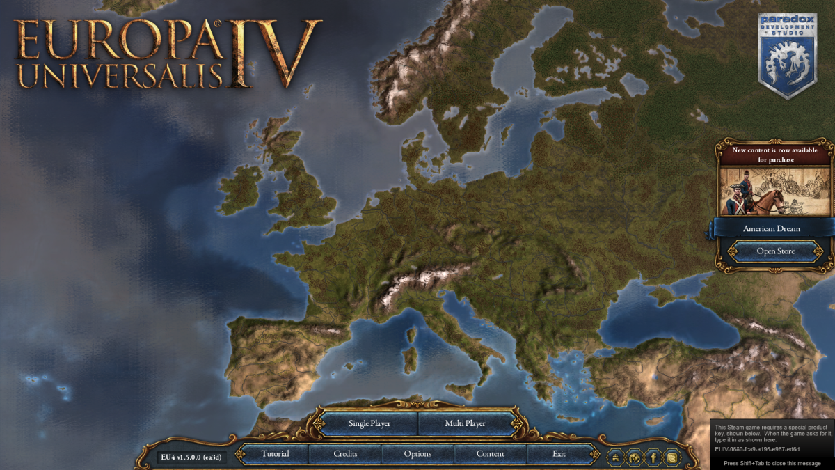 Europa Universalis IV owned by Paradox. Images used for educational purposes only.