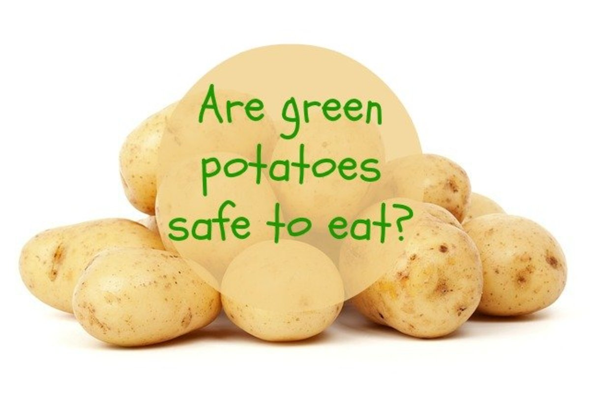 Are green potatoes safe to eat?