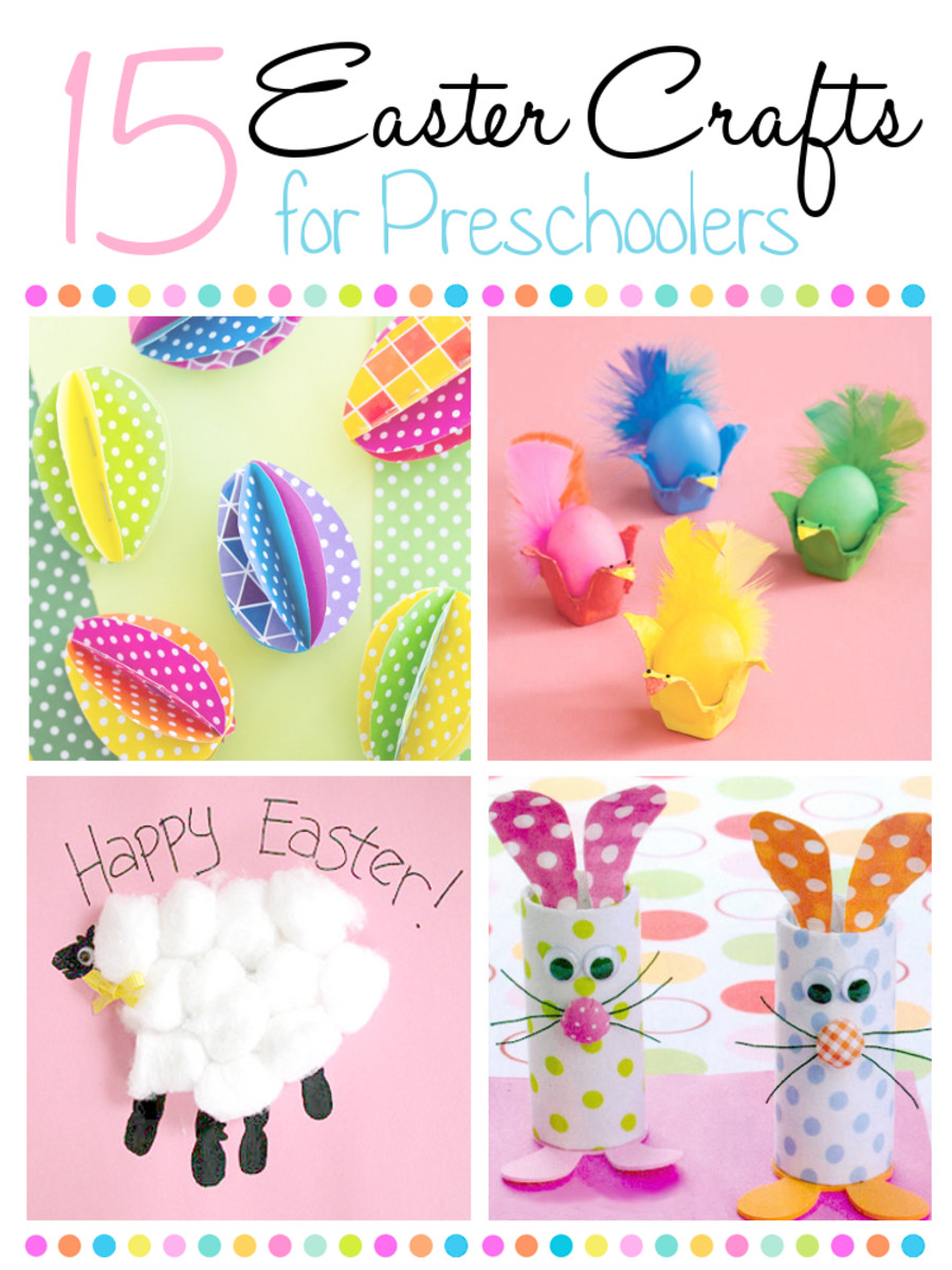 Check out these 15 fun and easy Easter crafts that are perfect for preschoolers and other young children.