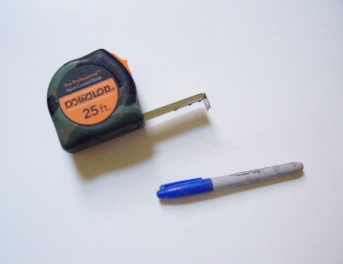 Tape measure and permanent marker