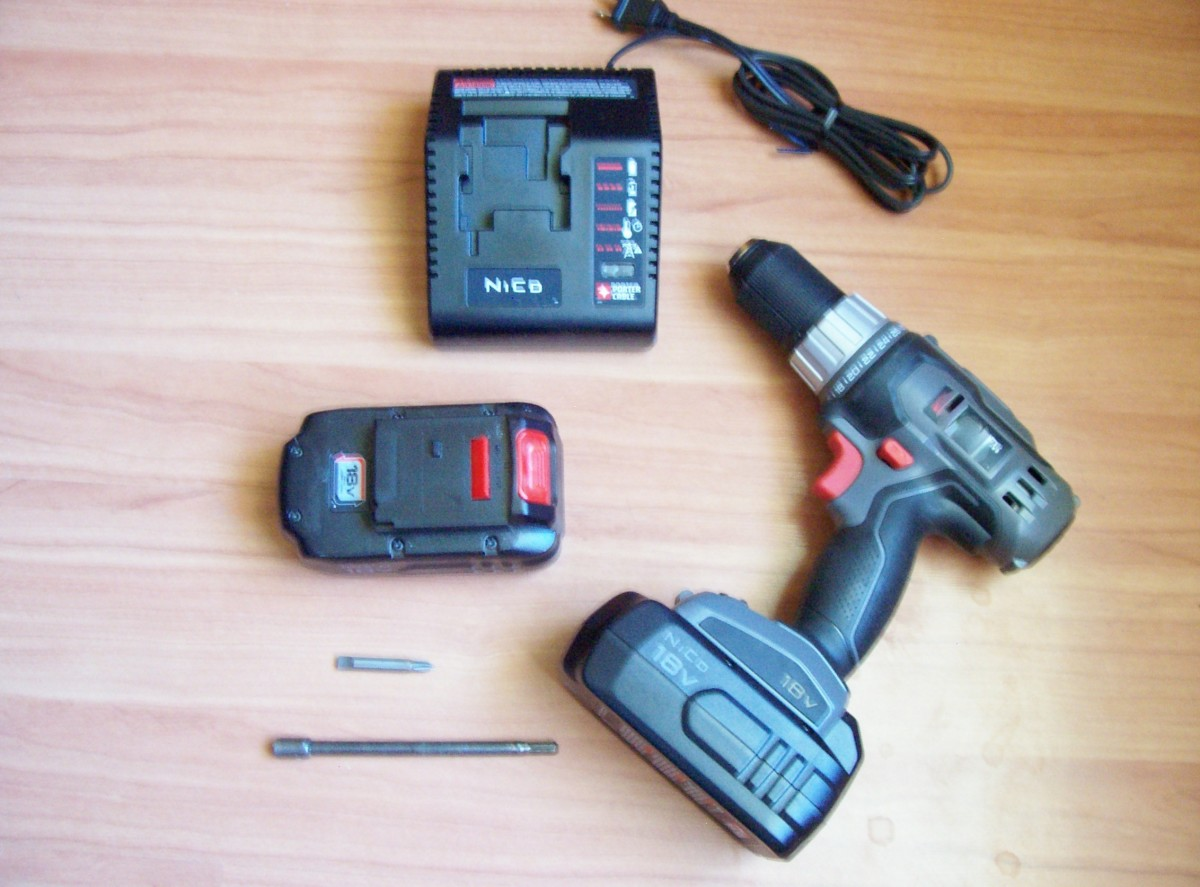 "Cordless drill. A 1/4"" hex driver is needed to install sheet metal screws."