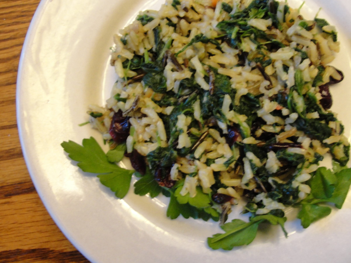 Main Dish Wild Rice & Spinach Salad