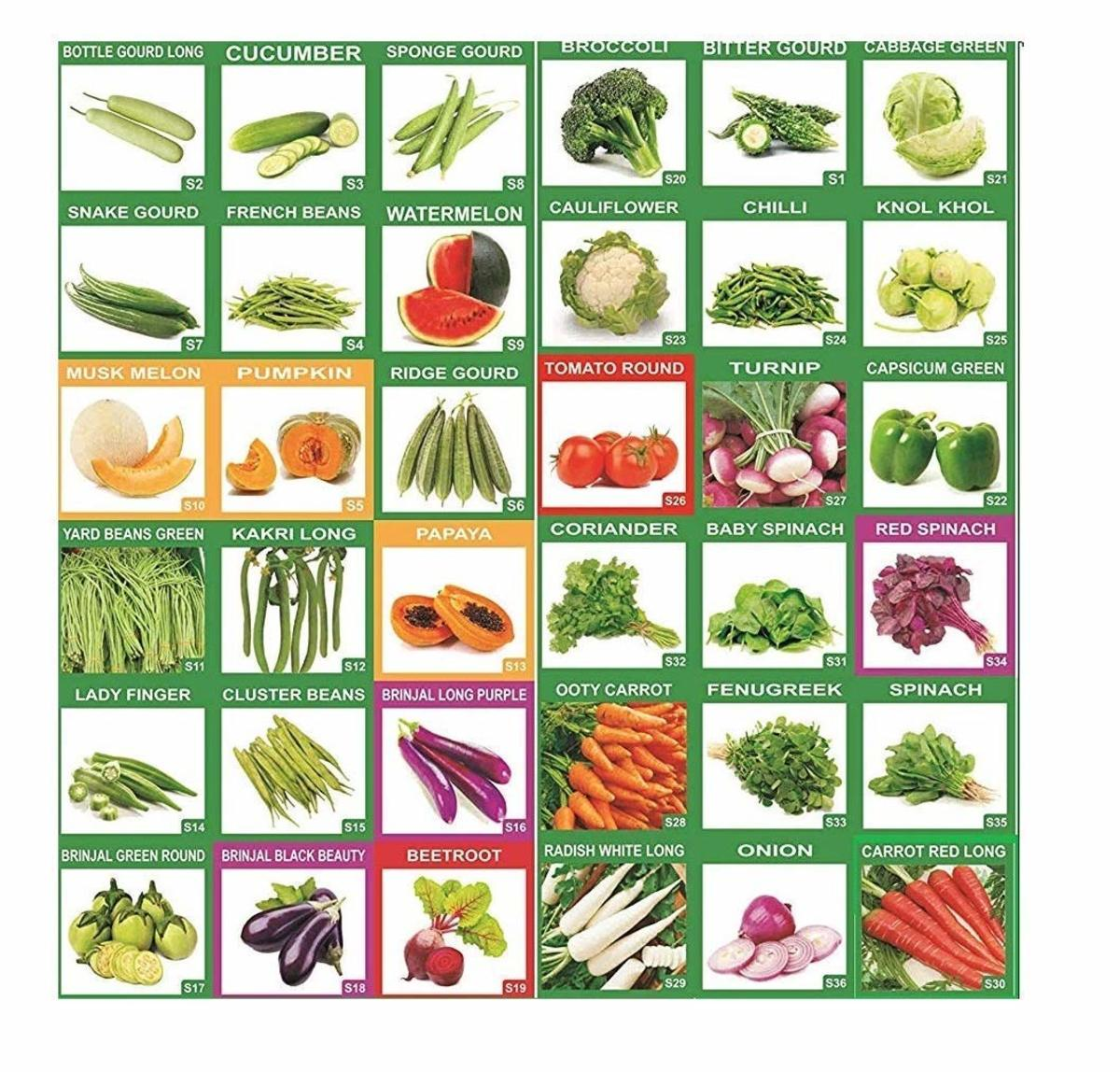 Vegetable seed assortment from Amazon