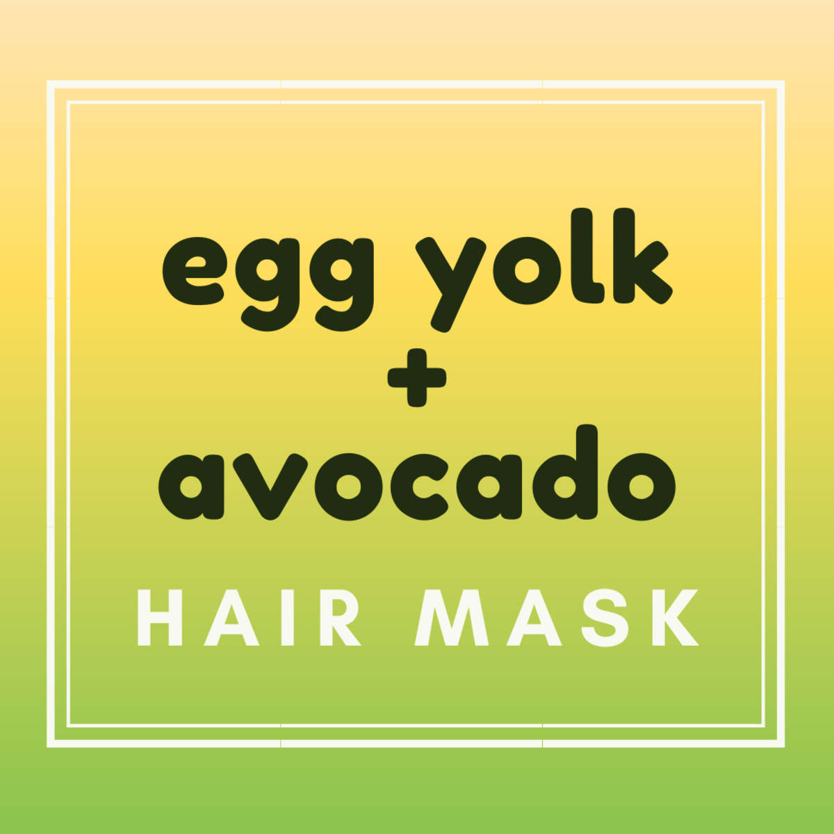 Make a nourishing protein repair hair mask with avocado and egg yolk. Your hair will feel soft and voluminous for days!