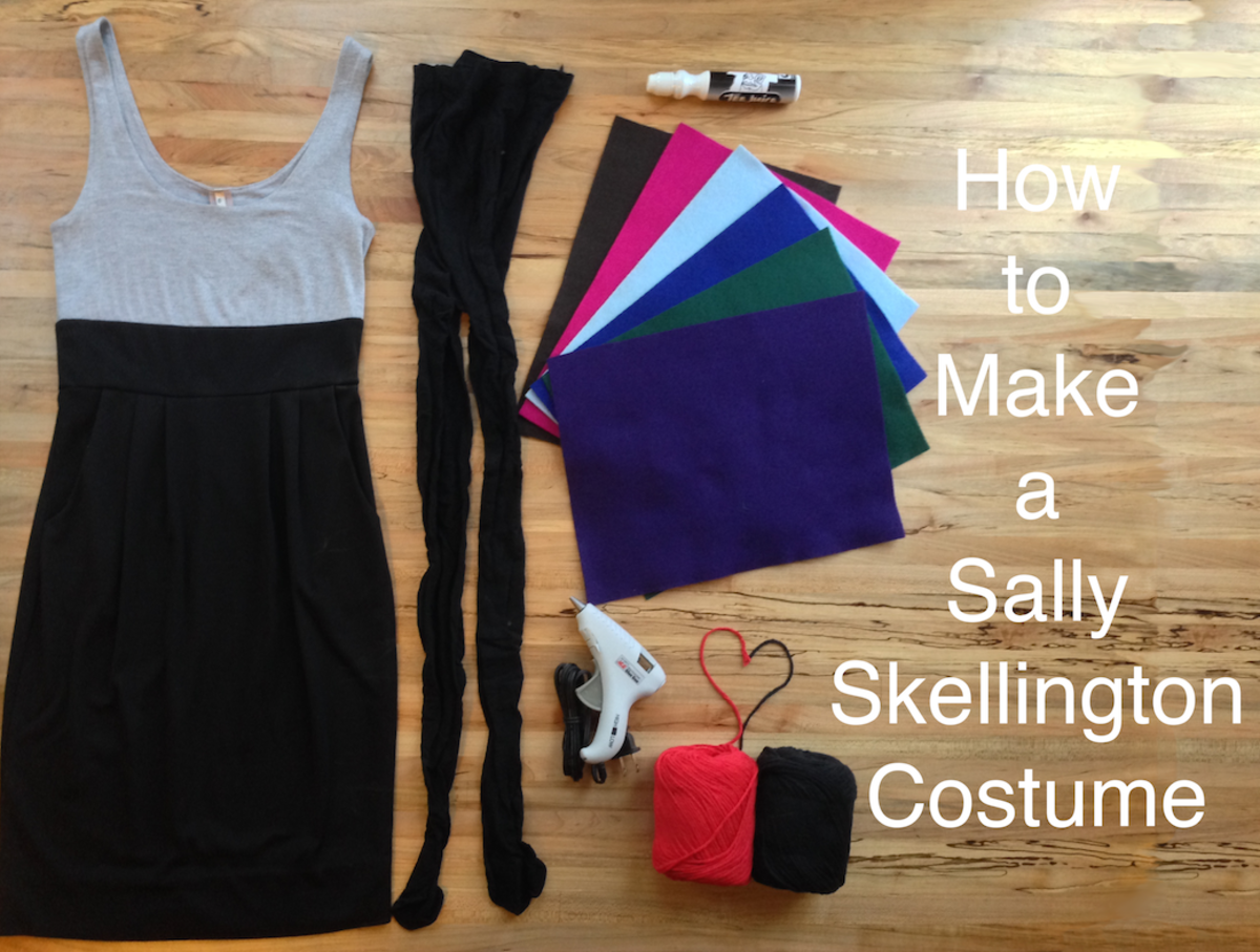 How to Make a Sally Skellington Costume