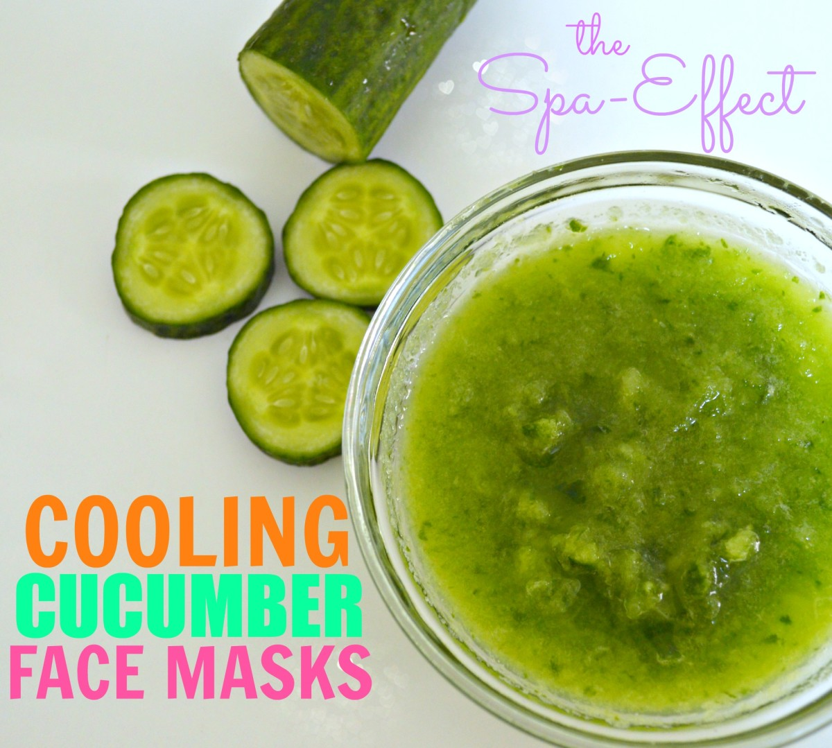 Ready to get a spa-effect right at home? Cooling cucumber face masks do just that! Treat skin problems with different cucumber face masks.