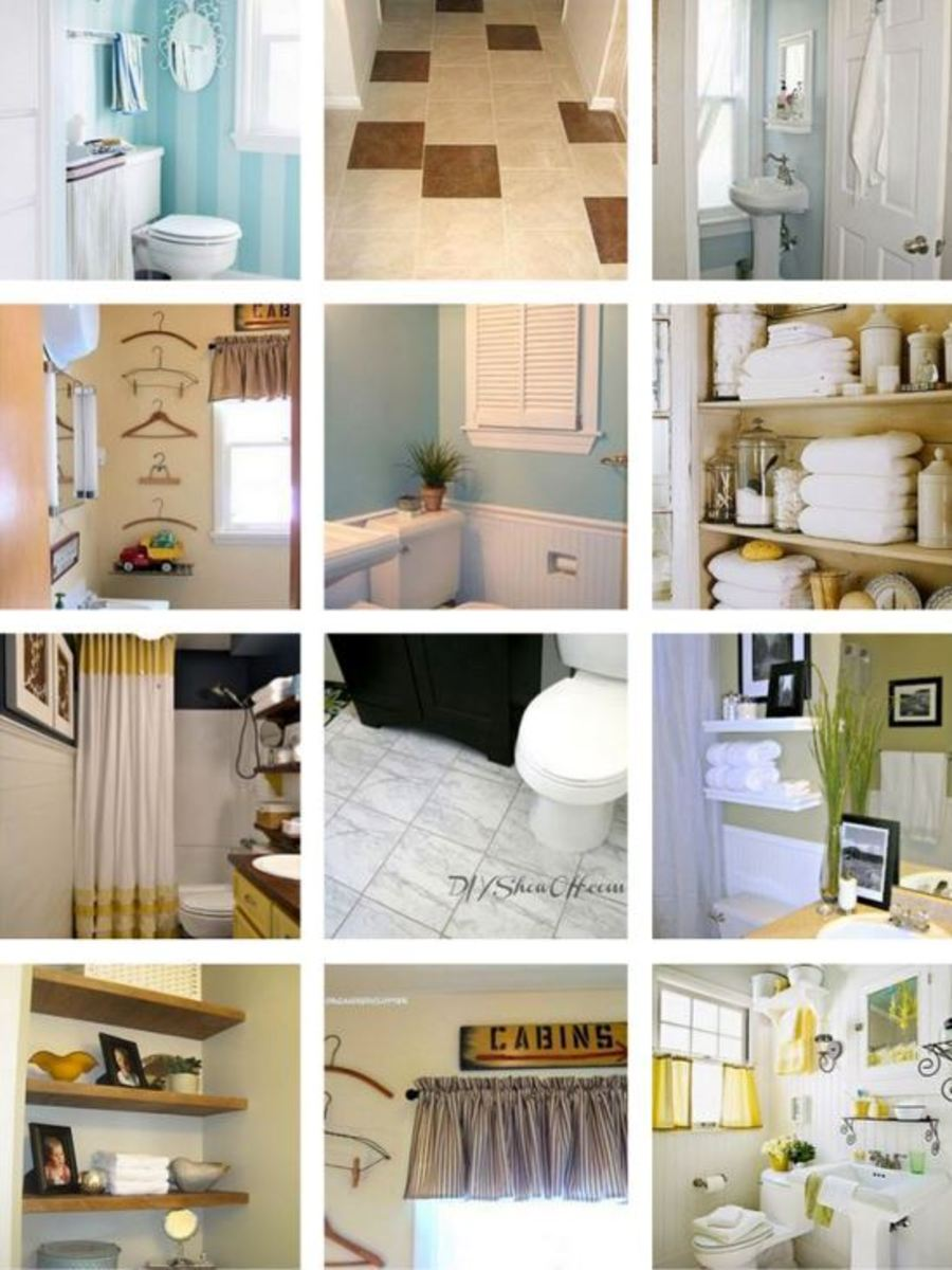Small bathrooms are common but they can still look elegant and have as much storage as some of today's larger bathrooms if done right.