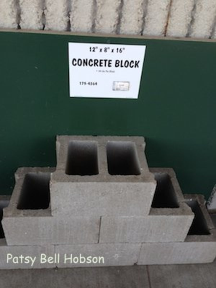 The variety of shapes and designs available in concrete blocks may surprise you. Get creative.