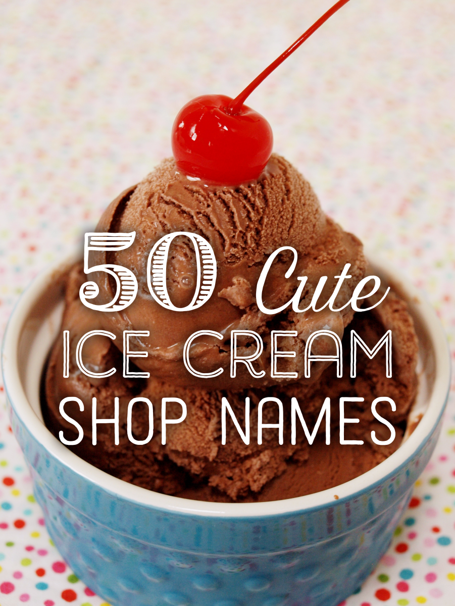 50 Cute Ice Cream Shop Names