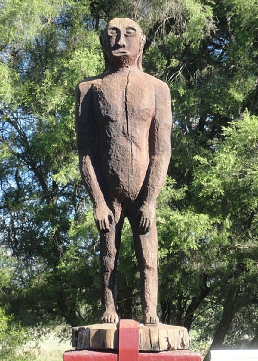 A statue in Yowie Park, Kilcoy, Queensland. What is this creature, and where did it come from?