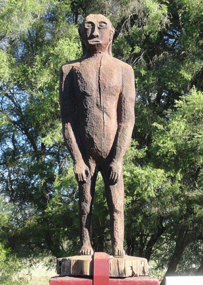 Yowie statue in Queensland, Australia.