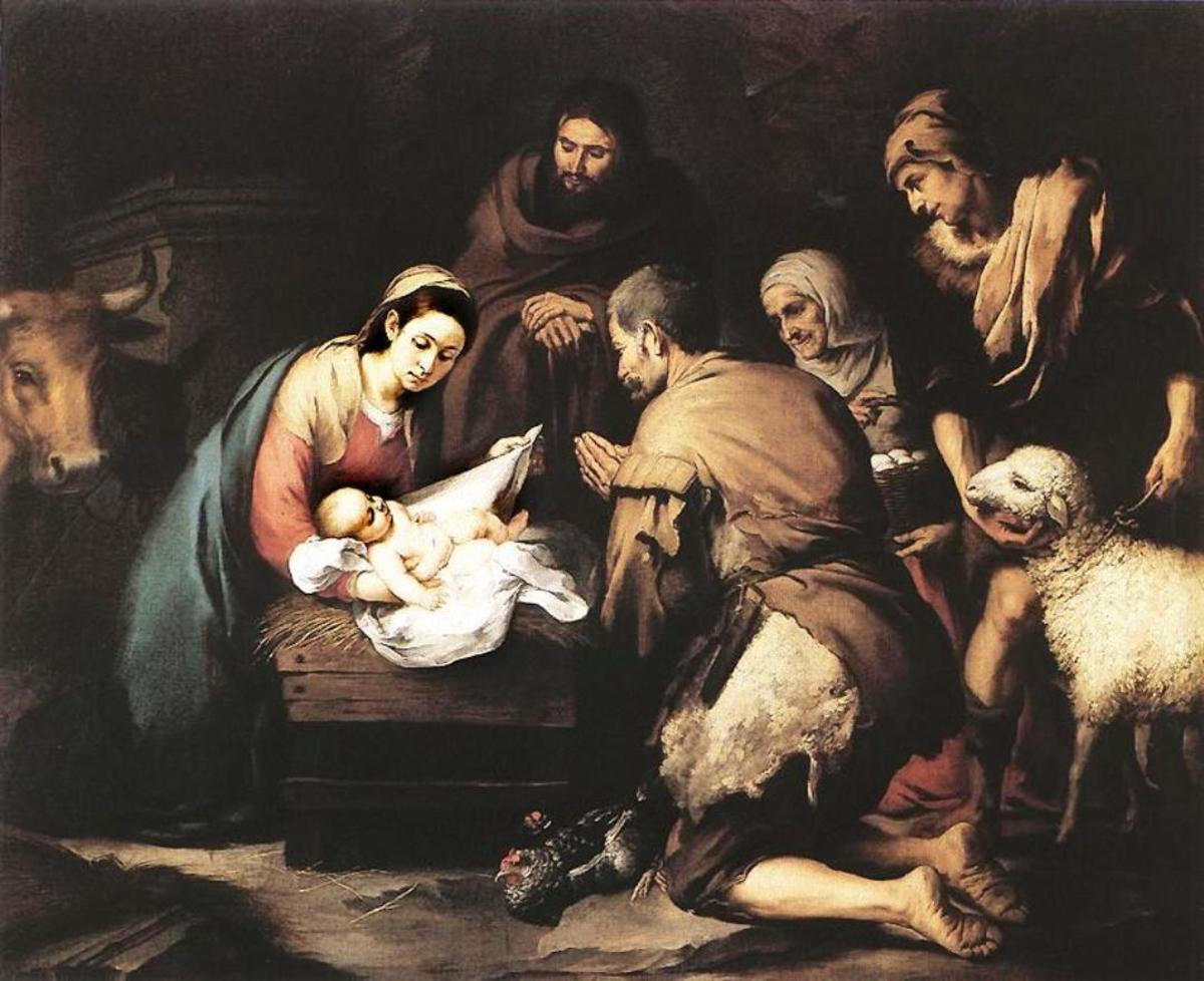The Adoration of the Shepherds by Bartolome Esteban Murillo