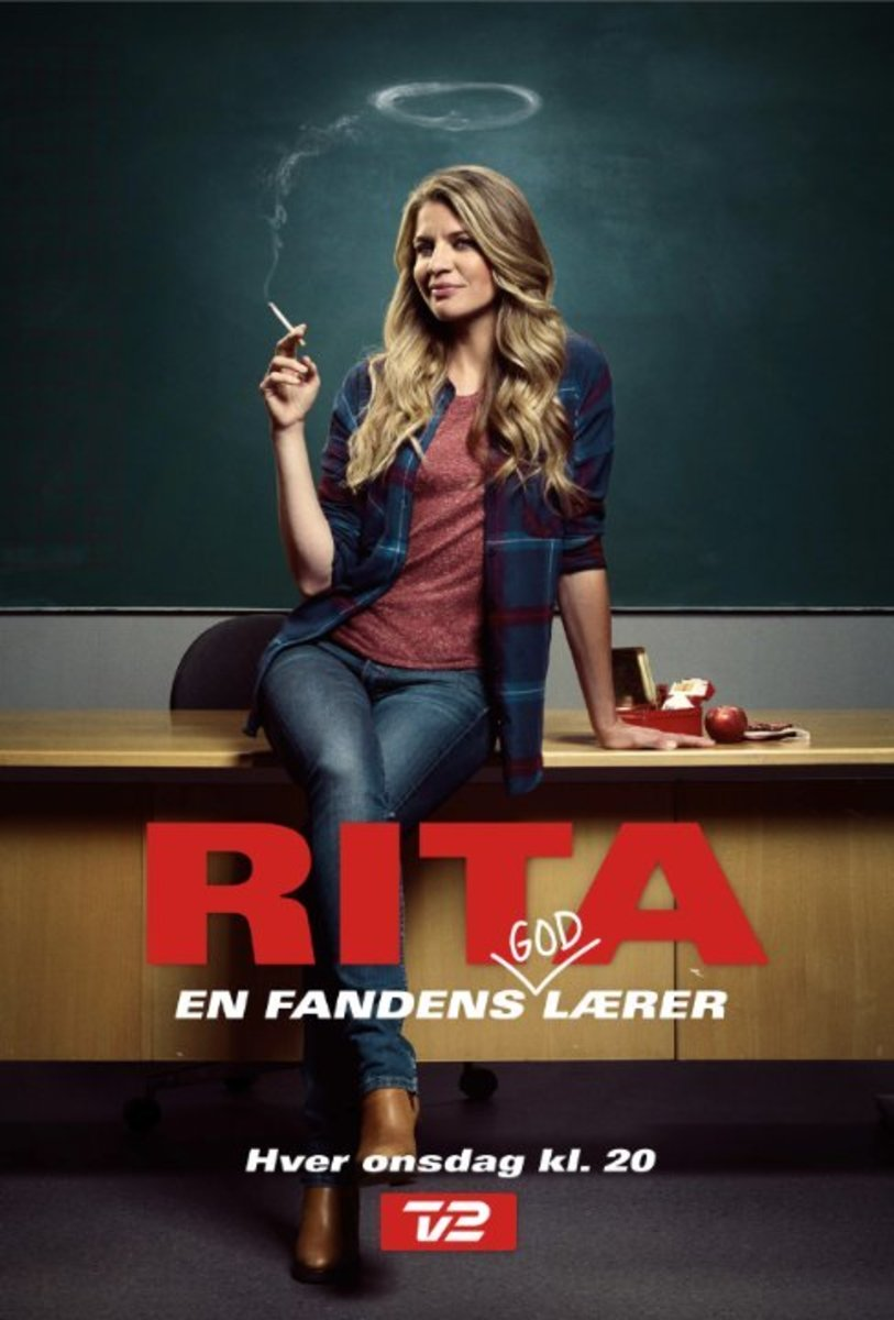 Rita the teacher, played by Mille Dinesen on the  TV show's promotional cover.