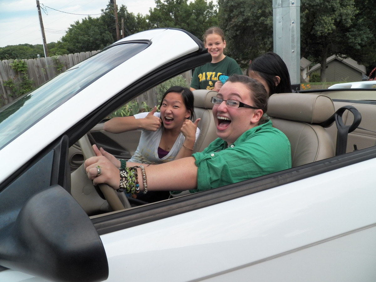 Girl in First Car.  Burst mode allows you to capture that important family memory!