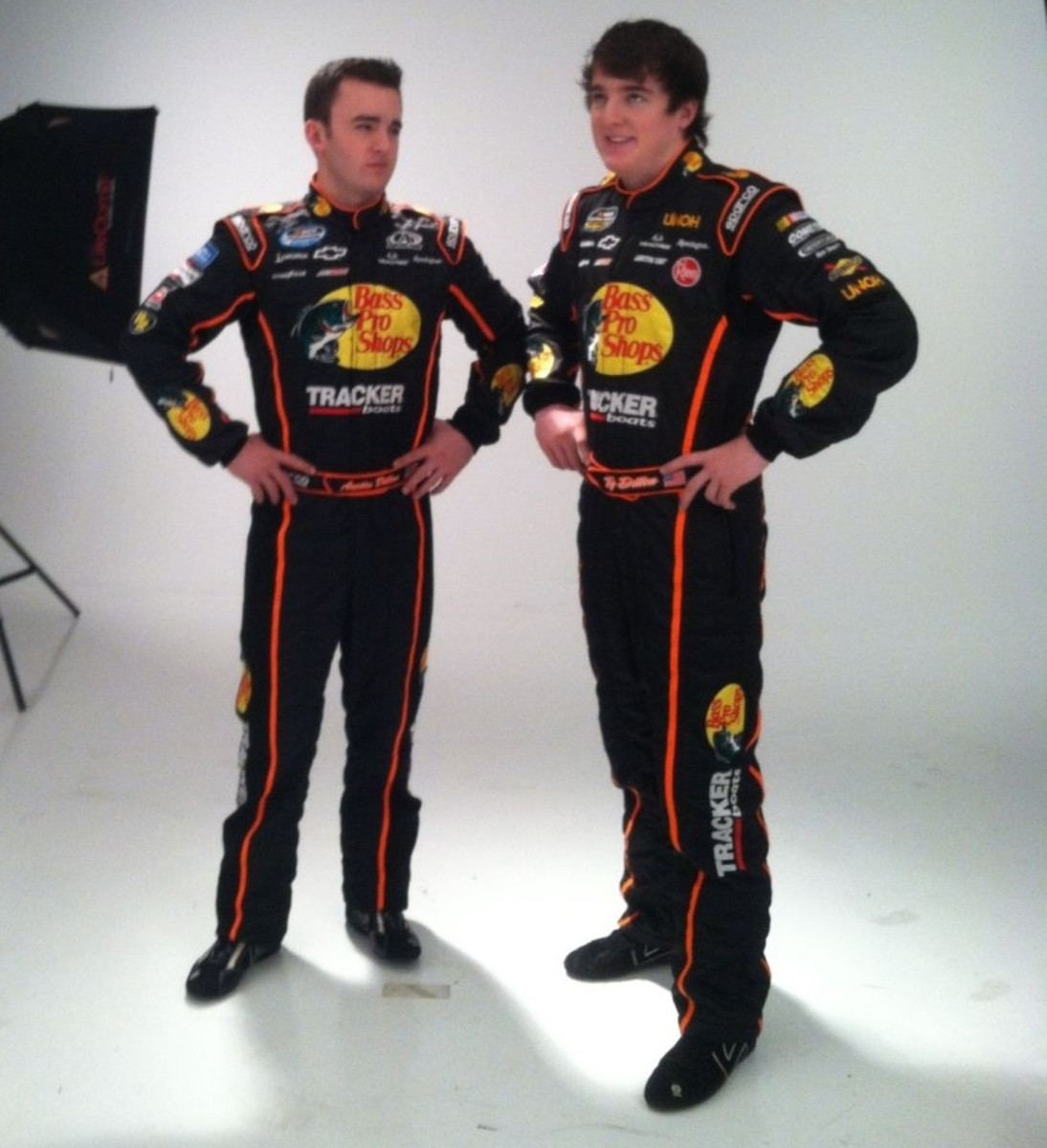 Austin Dillon and Ty Dillon in a pre-season photo shoot.