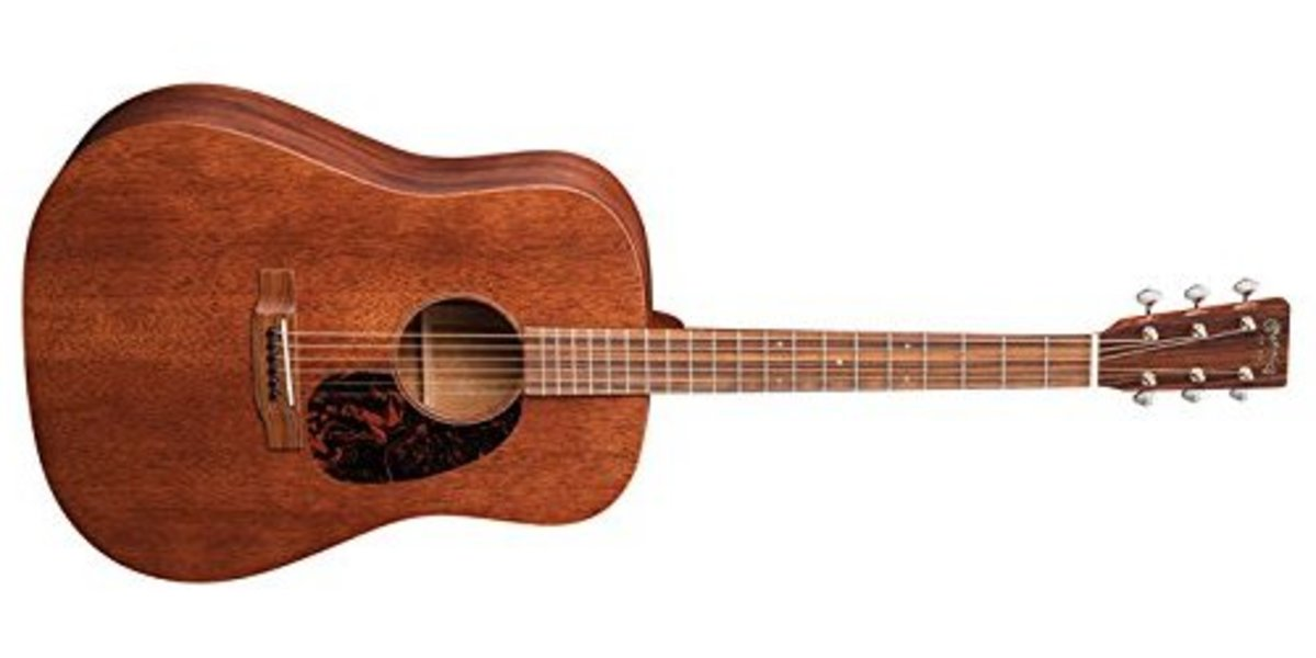 The Martin D-15M is an all-mahogany dreadnought guitar with amazing tone.